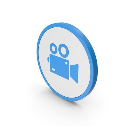 Icon Video Camera Blue