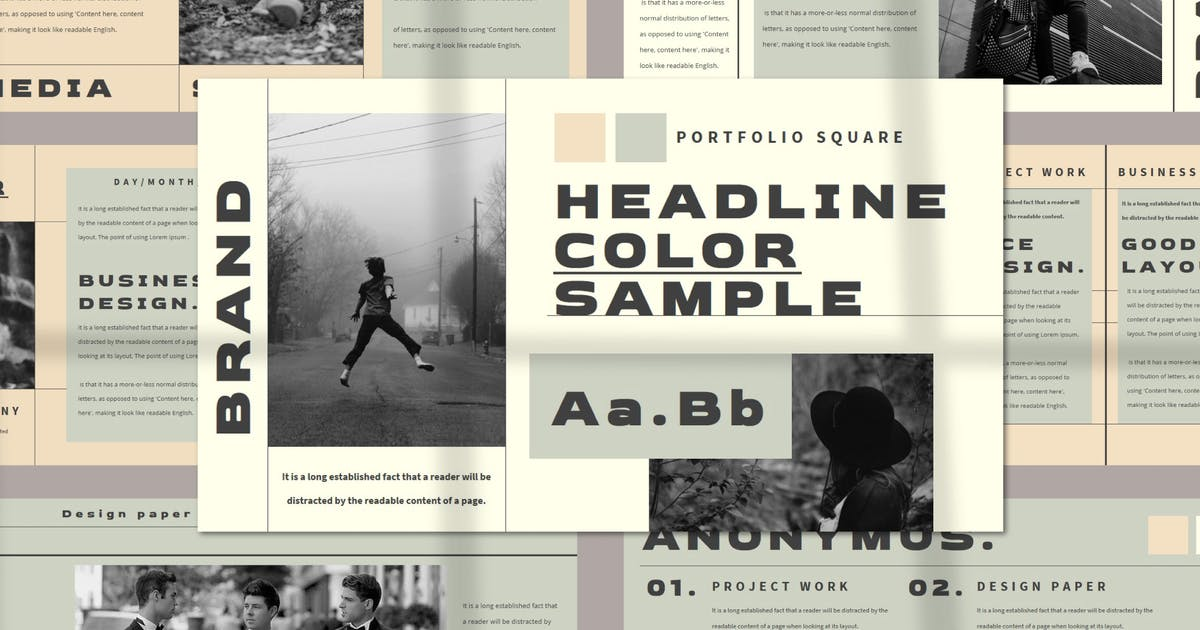 Download HEADLINE Keynote Template by axelartstudio