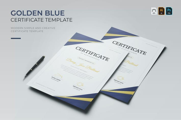 Golden Blue | Certificate