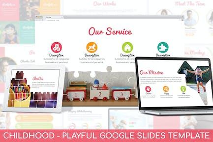 Детство - Игривый Шаблон слайдов Google