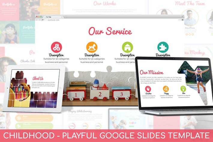 Cover Image For Childhood - Playful Google Slides Template