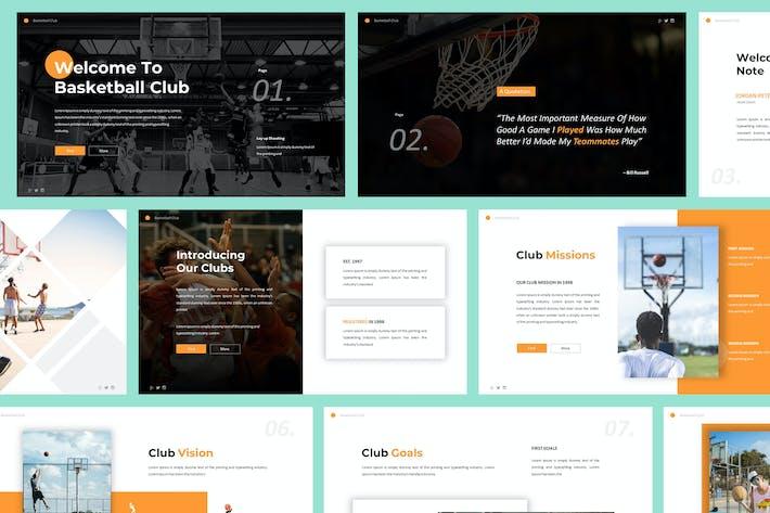 Шаблон баскетбольного клуба Powerpoint