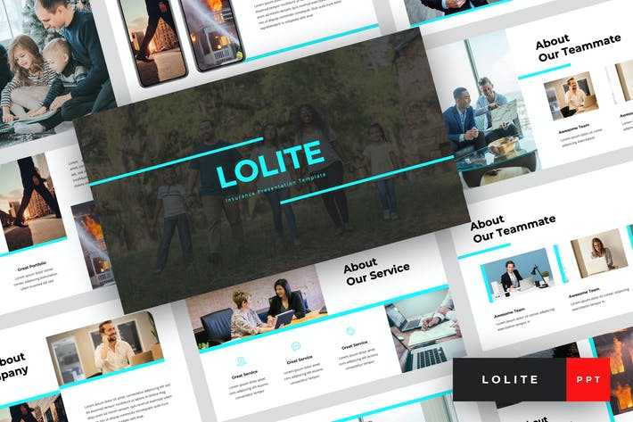 Thumbnail for Lolite - Insurance PowerPoint Template
