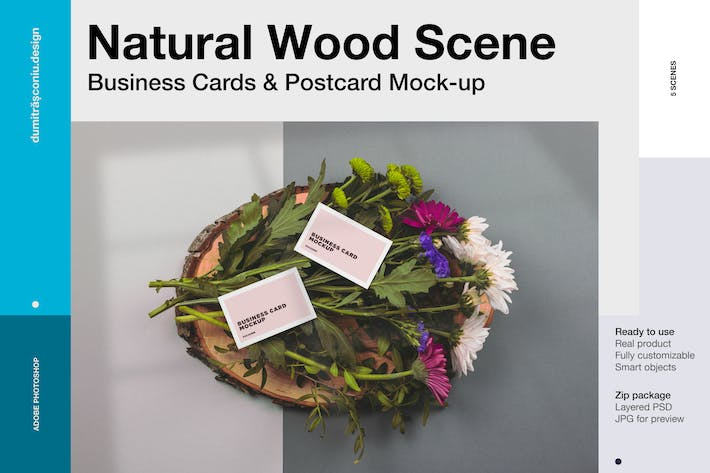 Thumbnail for Natural Scene - Business cards & postcard mockup