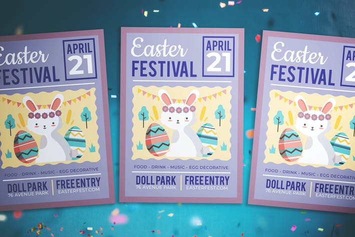 Thumbnail for Easter Kids Festival Flyer