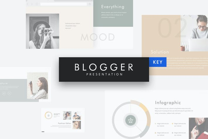 Thumbnail for Blogger - Simple Keynote Template