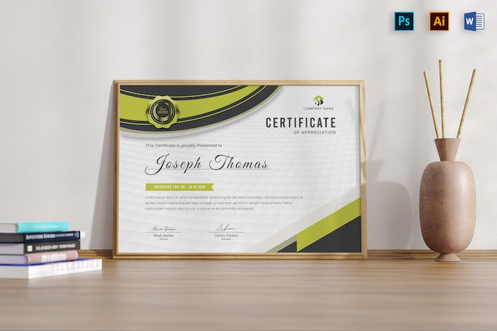 Certificates Word Template
