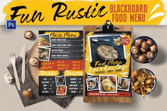 Fun Rustic Blackboard Food Menu