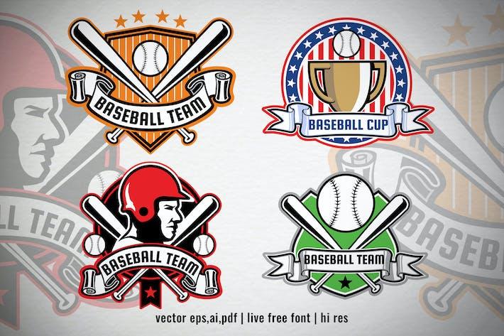 Thumbnail for vector set of baseball badges