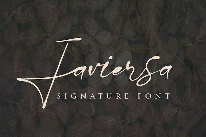 Javiersa - Fuente Signature