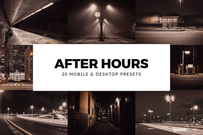 Thumbnail for 20 After Hours Lightroom Presets & LUTs
