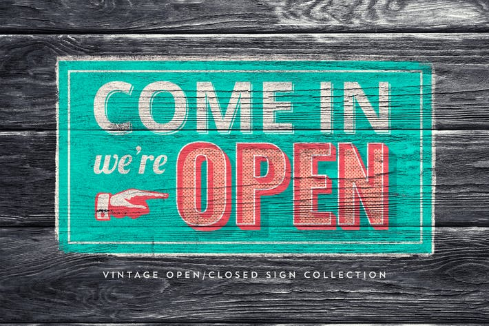 Thumbnail for Vintage Open/Closed Sign Collection