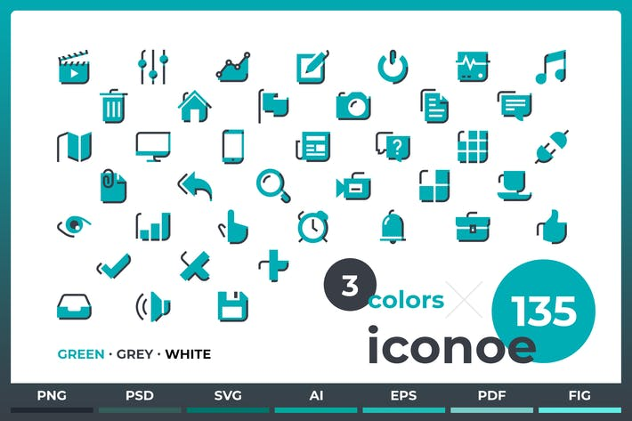 Thumbnail for Иконоэ - 135 иИконки к DuoTone
