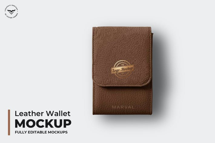 Cover Image For Leather Wallet Mockups