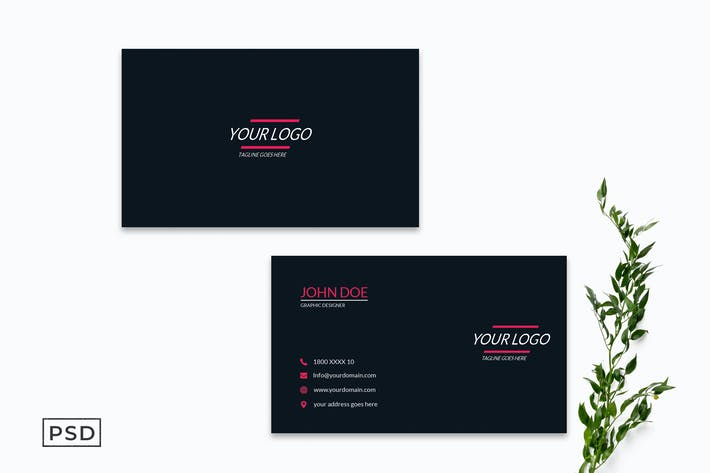 Thumbnail for Clean Minimal Business Card Template