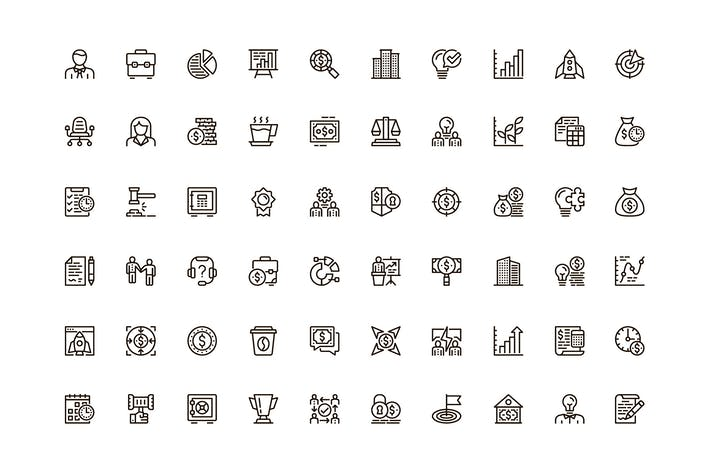 Thumbnail for Business Unique Web Line Icons Pack