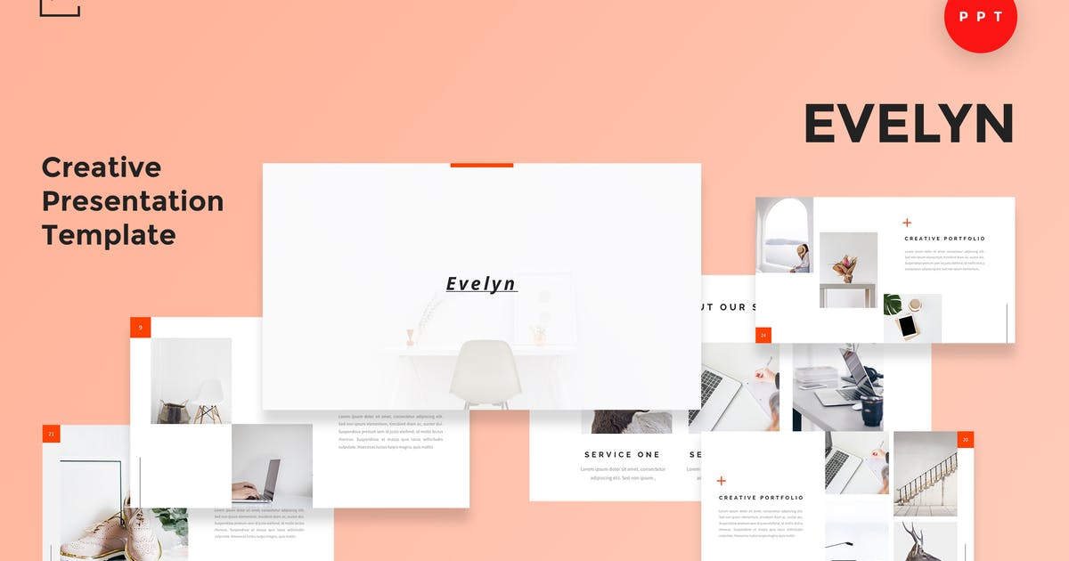 Download Evelyn - Creative Powerpoint Presentation Template by alexacrib