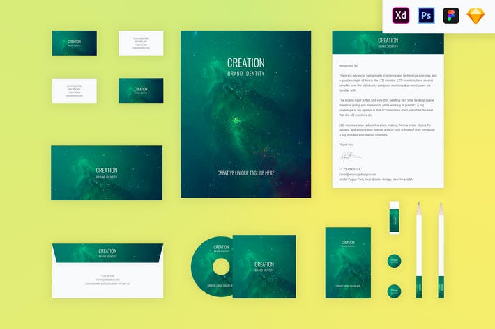 Cover Image For Branding Identity Mock Up - Creation