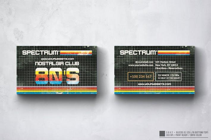 80's Music Club Business Card Design