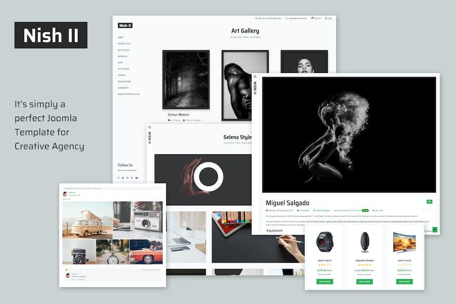 Nish II - Creative Joomla Template