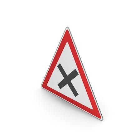 Road Sign Crossroad Ahead