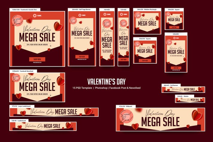 Thumbnail for Valentine's Day Banners Ad