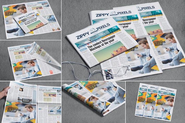 Thumbnail for Newspaper Design Mockups