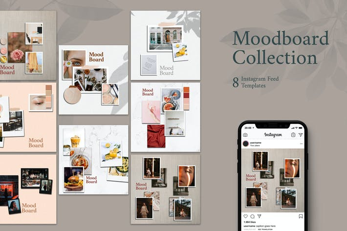 Thumbnail for Moodboard  - Instagram Post Template