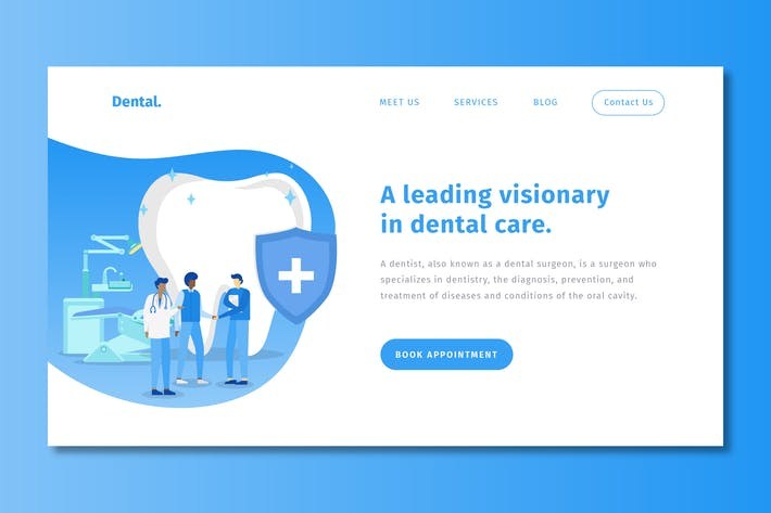 Thumbnail for Dental - Landing Page Template