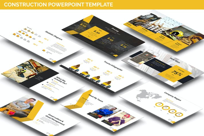 Cover Image For Construction Powerpoint Presentation