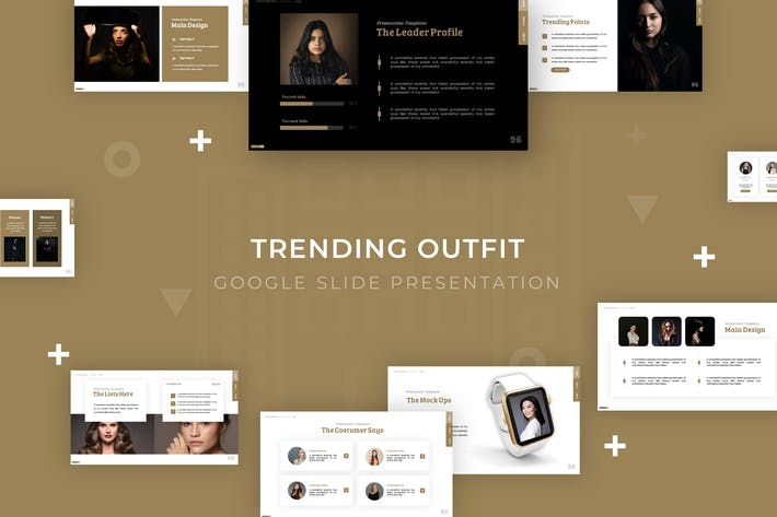 Thumbnail for Trending Outfit - Google Slide Template