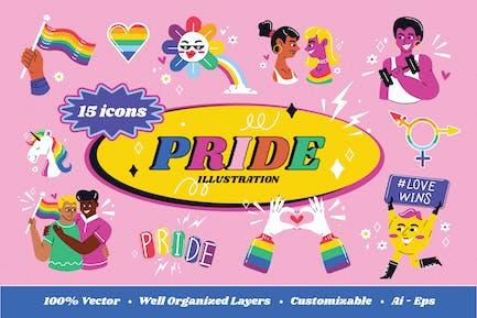 Pride Illustration Set