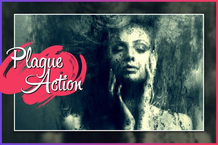 Cover Image For Plague CS4+ Photoshop Action