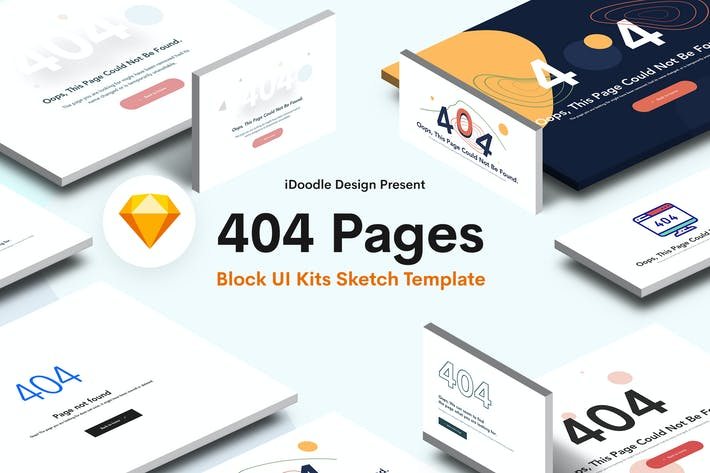 Thumbnail for Creative 404 Block UI Kits Design