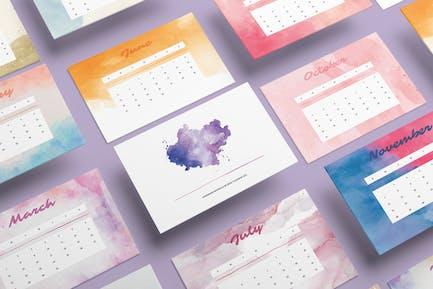Handgemachter Aquarellkalender