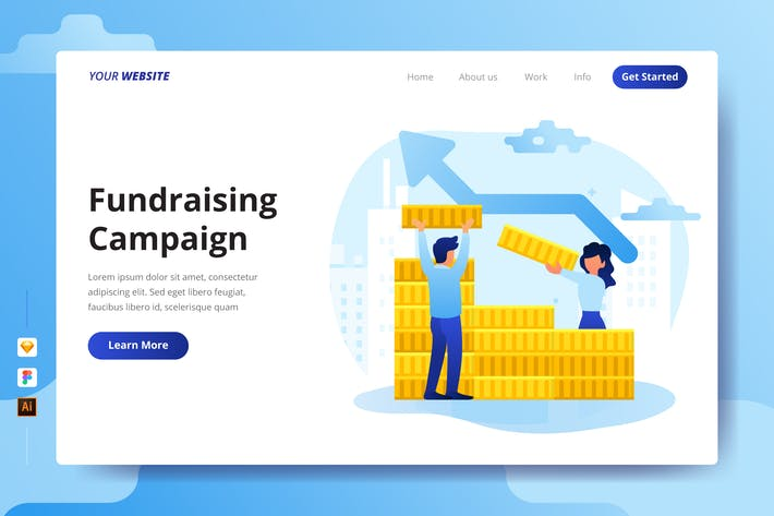 Thumbnail for Fundraising Campaign - Landing Page