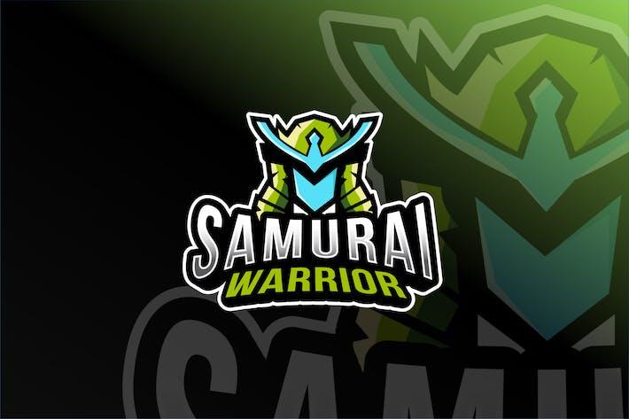 Thumbnail for Samurai Warrior Esport Logo Template