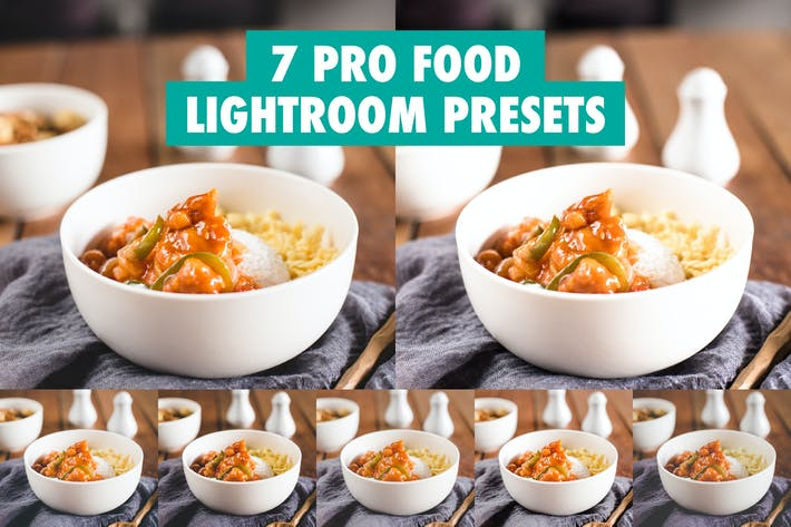 Thumbnail for 7 Pro Food Пресеты Lightroom
