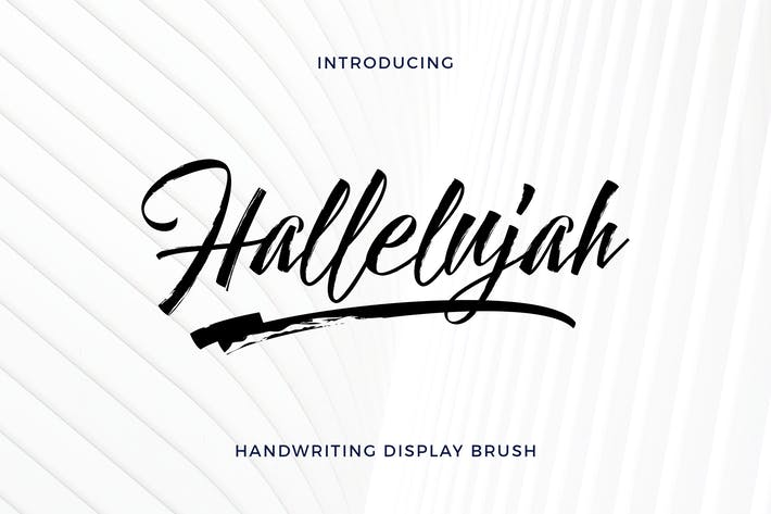Thumbnail for Hallelujah - Handwriting Display Brush