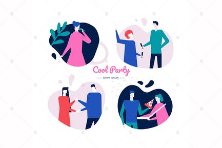 Coole Party - Zeichentrickfiguren