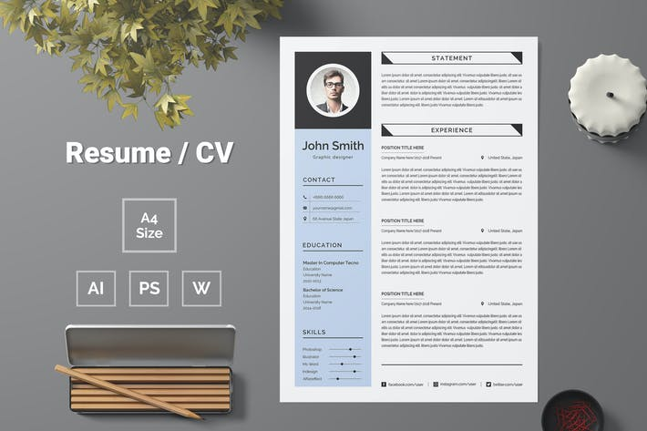 Thumbnail for Resume Template 84