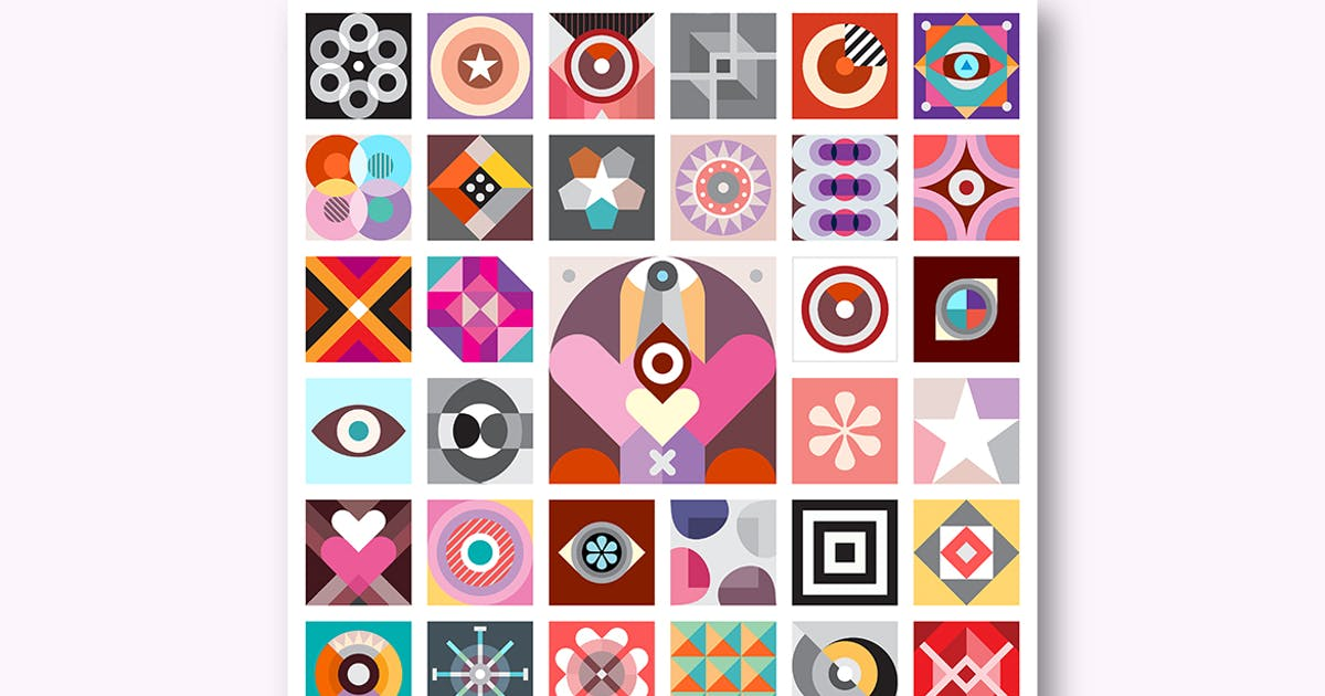 Download Abstract Art Composition, set of abstract patterns by danjazzia