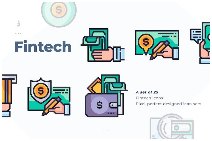 Thumbnail for 25 Fintech icon
