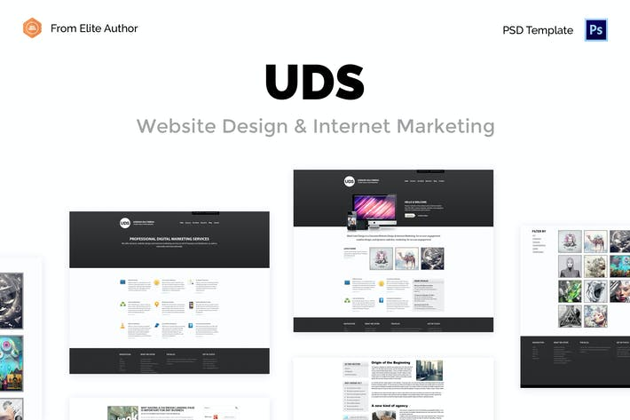 thumbnail for uds business minimal psd template