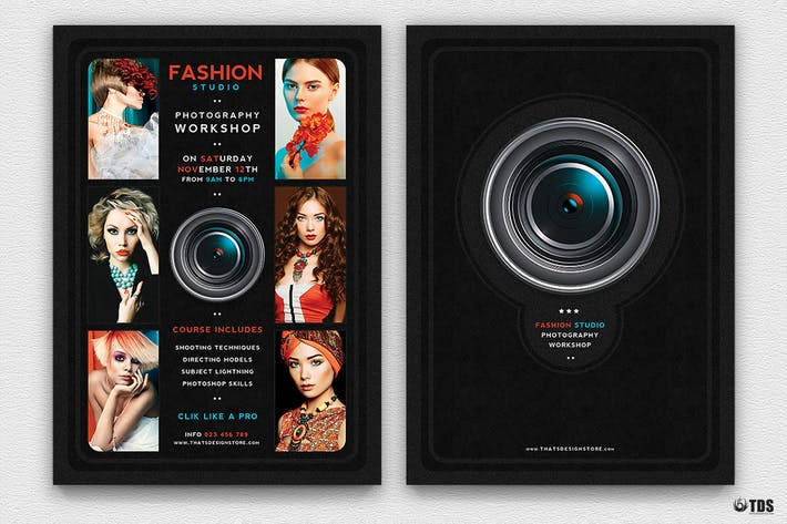 Photography Workshop Flyer Template By Lou606 On Envato Elements