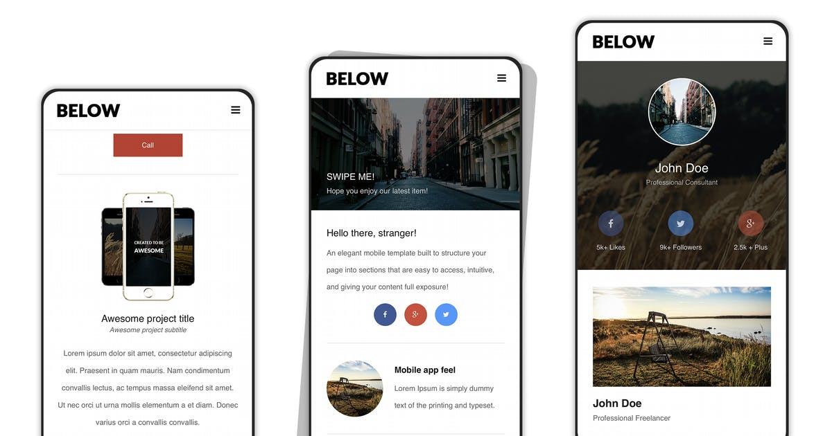 Download Below   Mobile Template - Modal Focused by Enabled