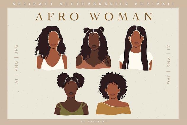 Afro Black Woman Clip Art