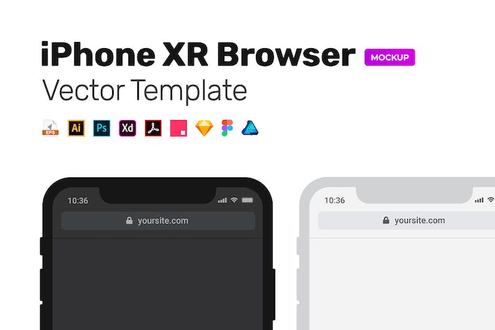 Thumbnail for Dark/Light Mobile Browser MockUp – Vector Template