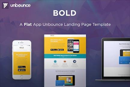 BOLD - Шаблон целевой страницы Приложение Unbounce