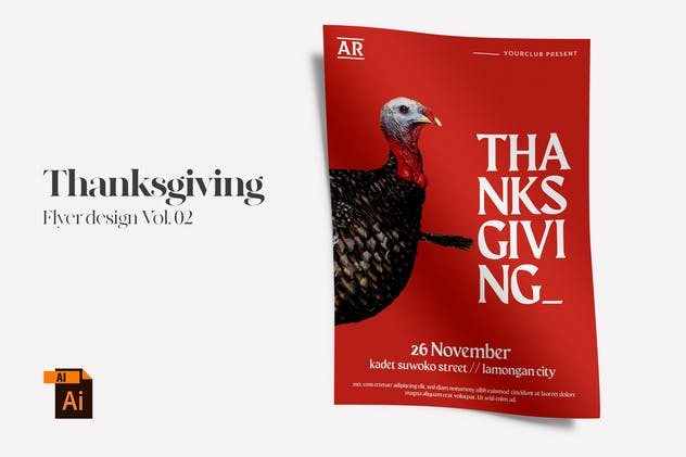 Thanksgiving Flyer Design Vol. 02